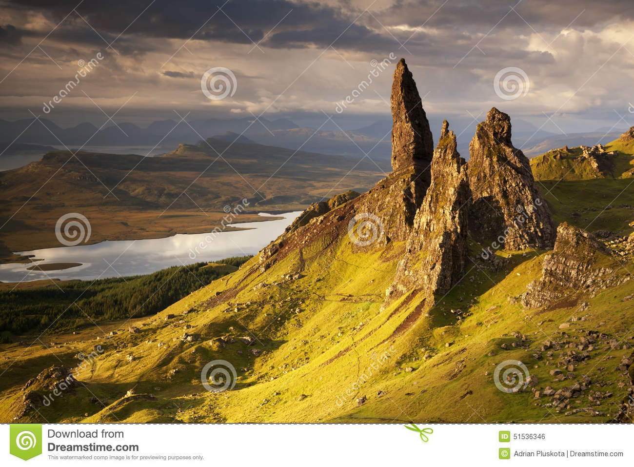 Old Man Of Storr Stock Photo.