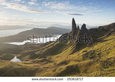 Old Man Of Storr On Isle Of Skye, Scotland Stock Photo 293618717.