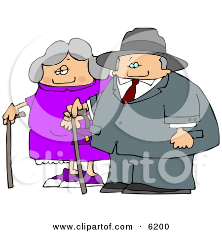 Old Man Old Woman Clipart.
