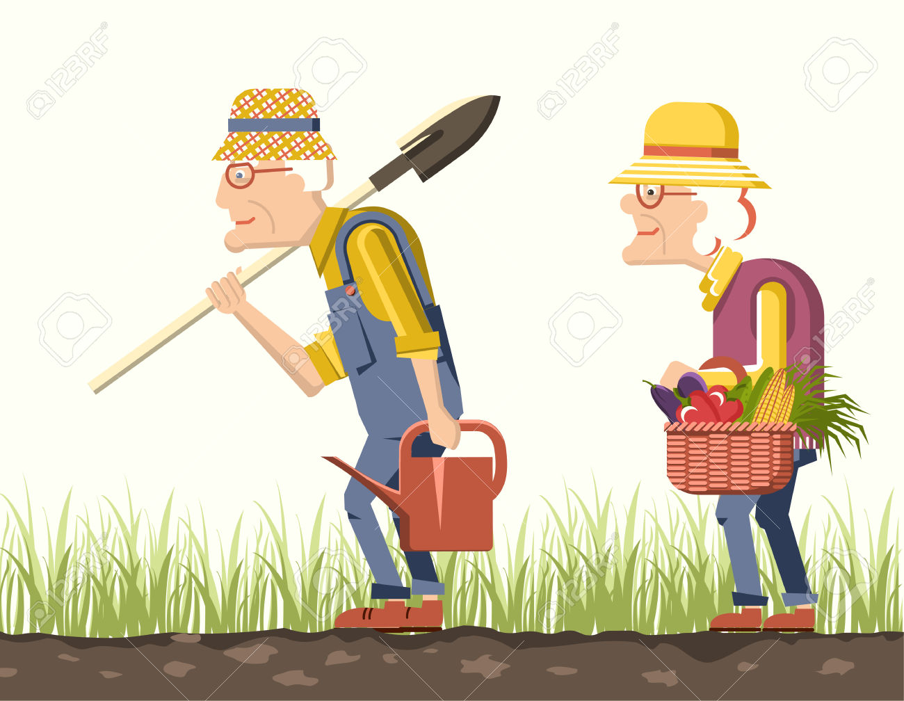 Showing post & media for Old couple gardening cartoon.
