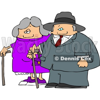 Showing post & media for Cartoon old man and lady.