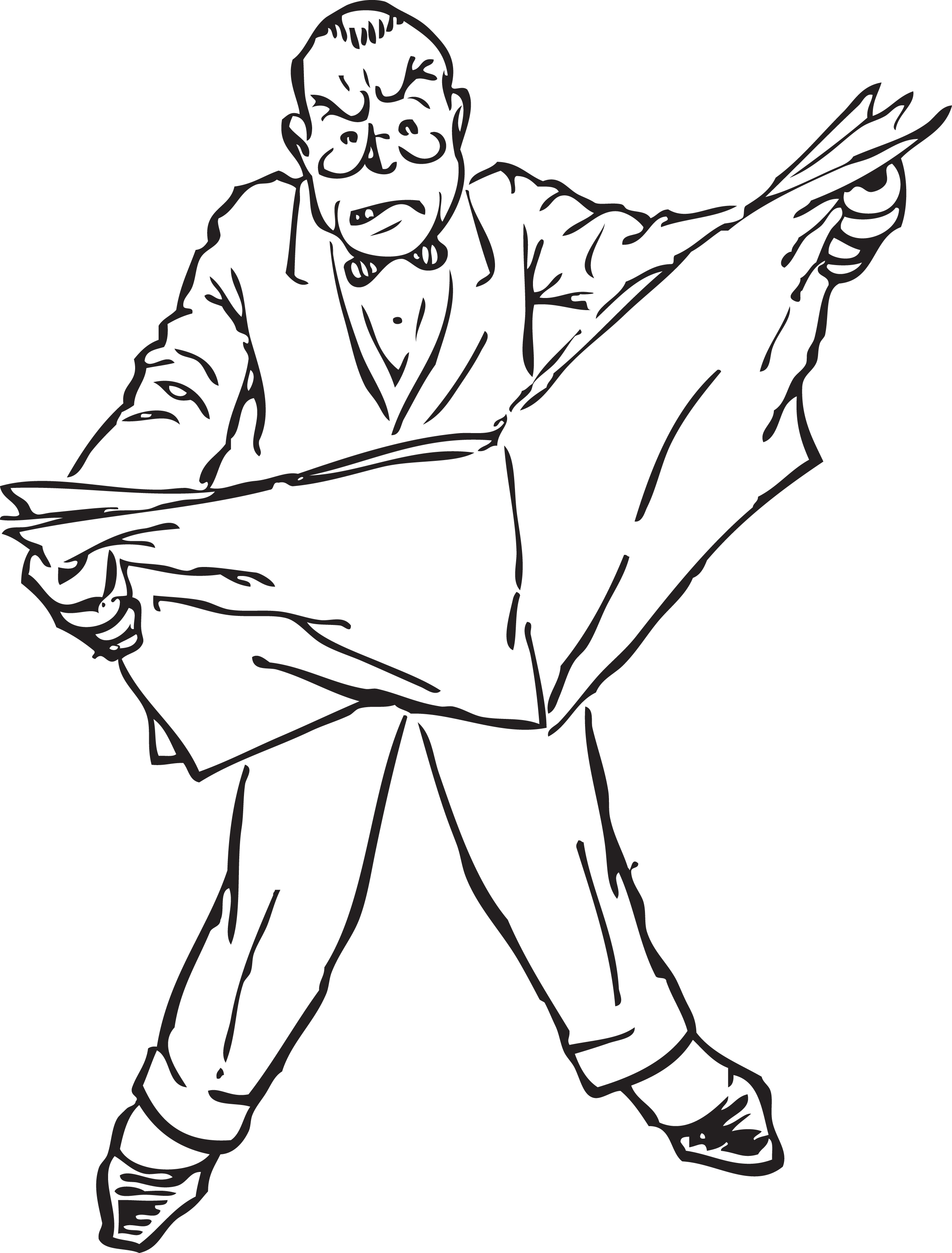 Clipart newspaper man talking to girl.