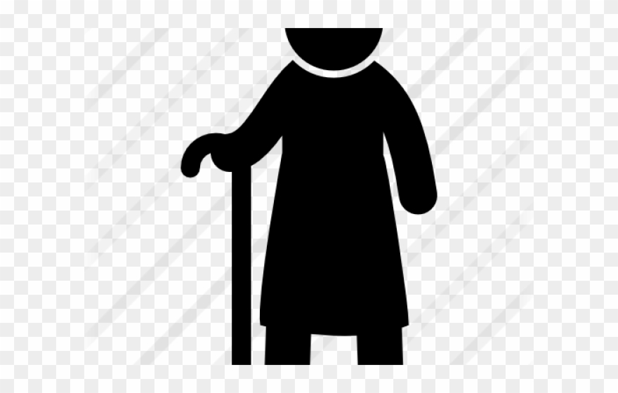 Old Man Standing Clipart.