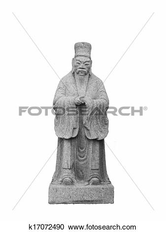Stock Photography of Chinese ancient old man Statue k17072490.