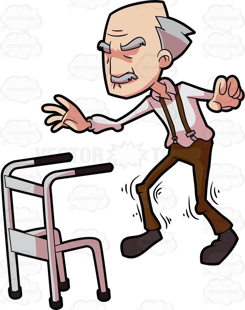 Old Man On Walker.