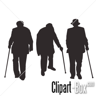 Black And White Clipart Old People.