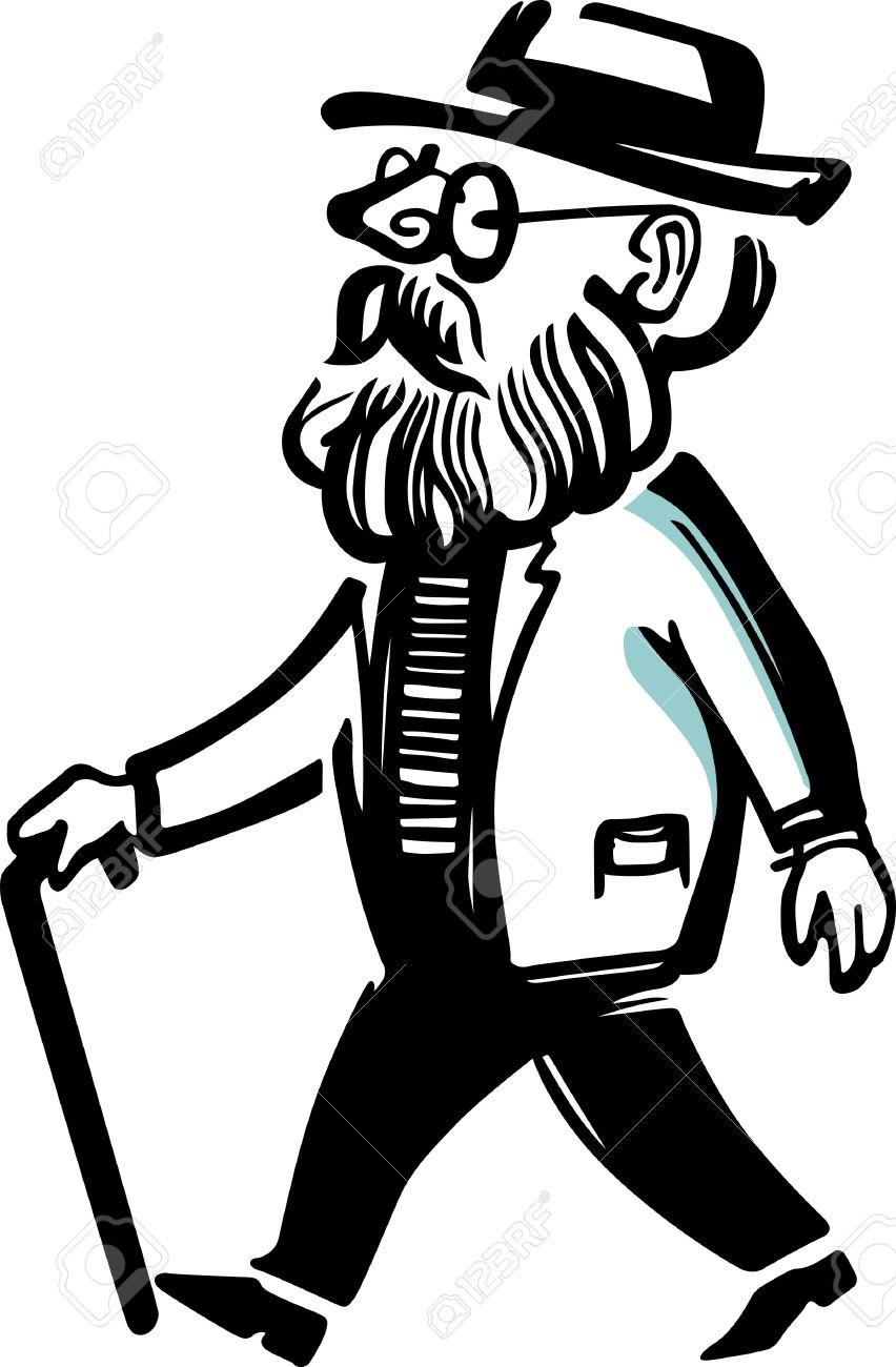 Showing post & media for Grandpa walking cartoon.