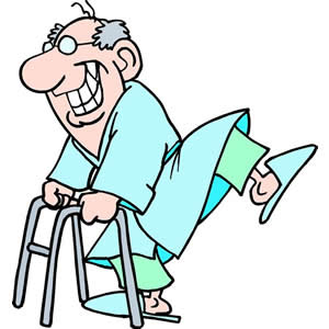 Old man with walker clipart clipartfest.