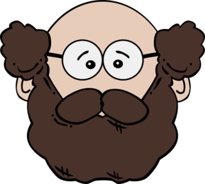 Balding Man With Mustache And Beard clip art.