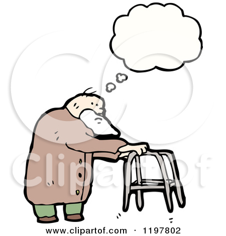 Old man with hiccups clipart.