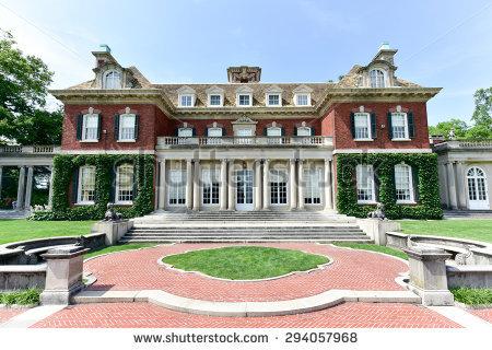 Long Island Mansion Stock Photos, Royalty.