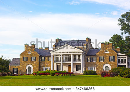 Mansion Stock Images, Royalty.