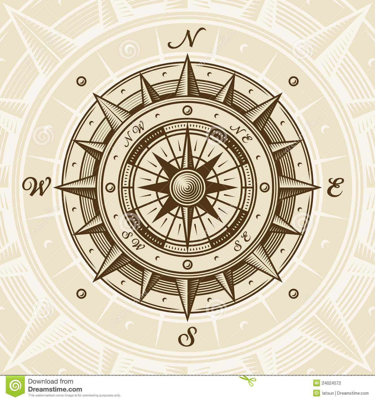 old compass rose