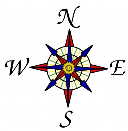 Old Map Compass Rose.