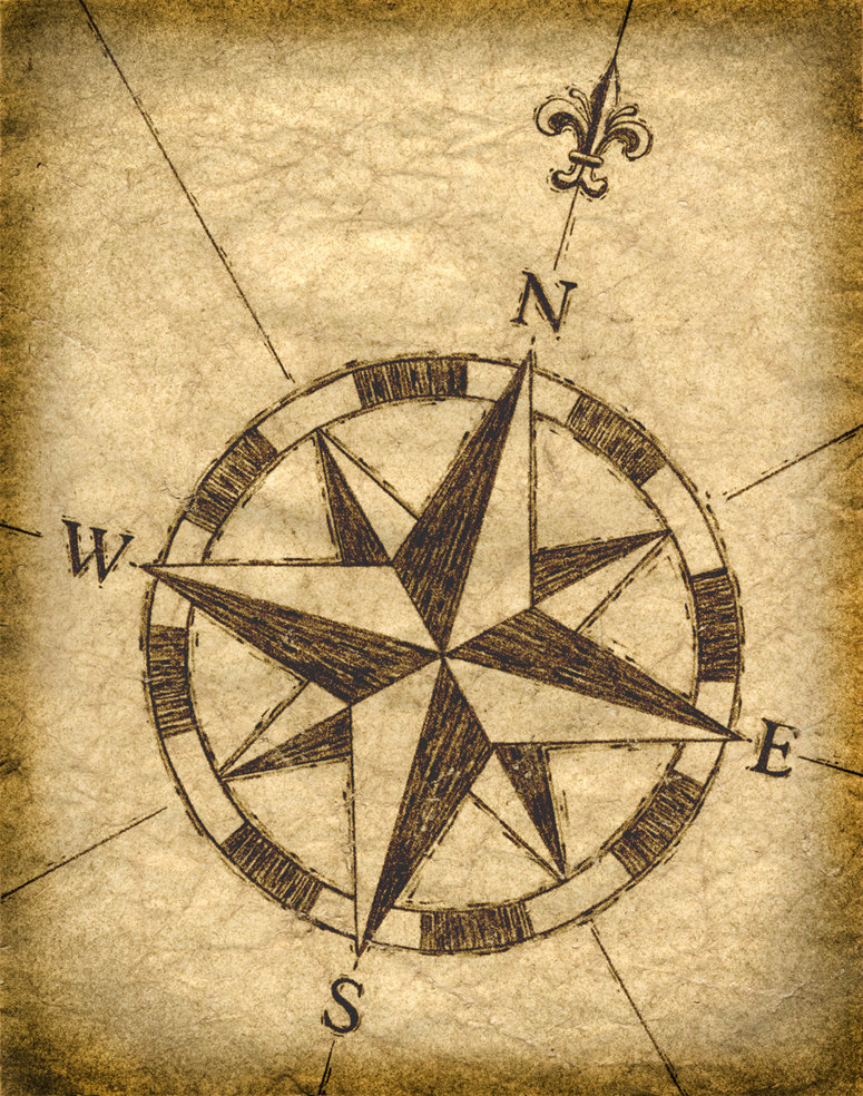 Compass Rose Artwork 11 x 14, Old Maps, Treasure Maps, Compass.