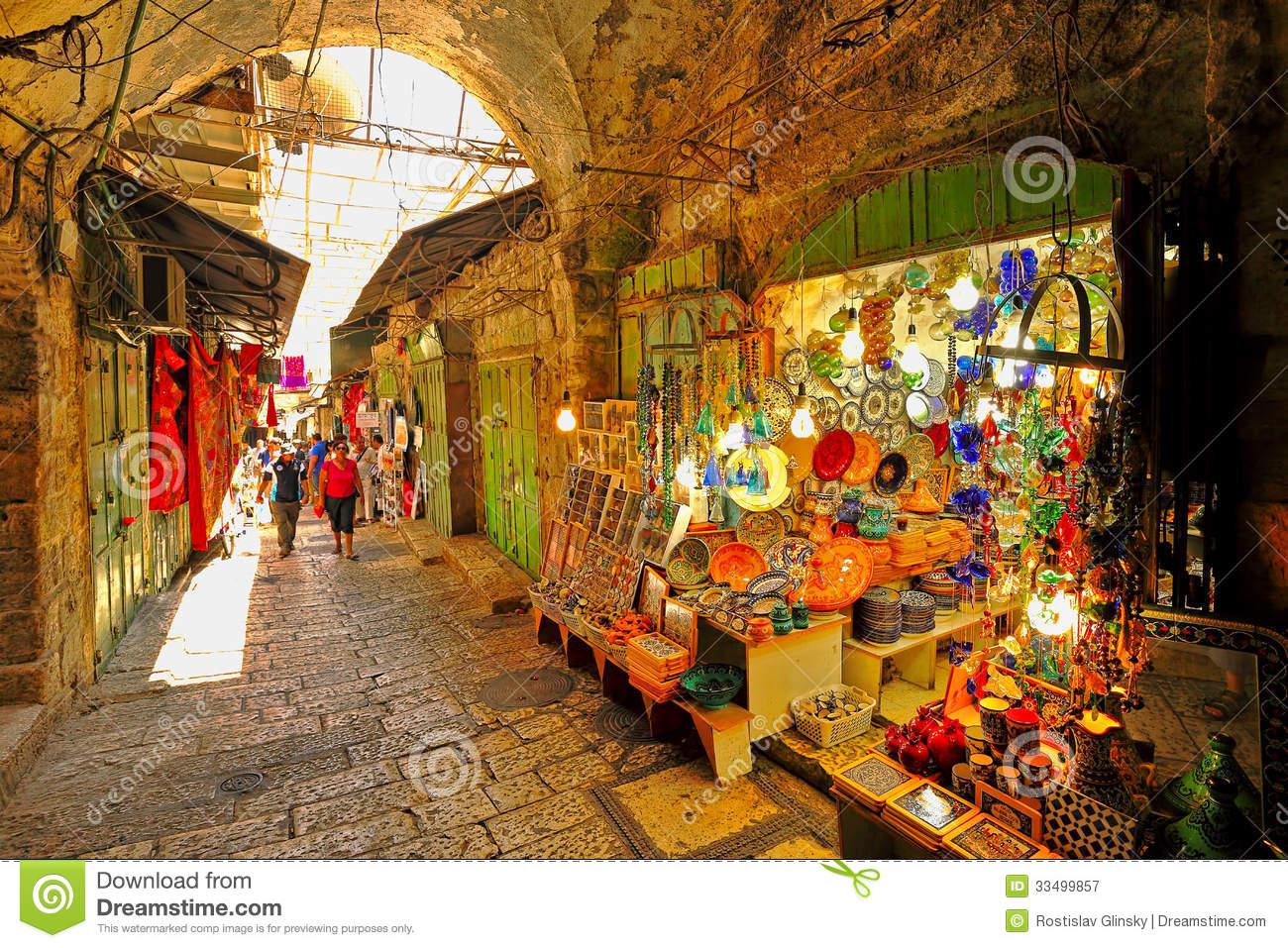 Old Market In Jerusalem. Editorial Image.
