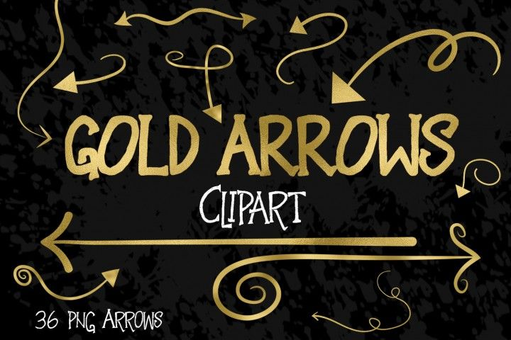 Gold Foil Arrows Clip Art By Old Market.