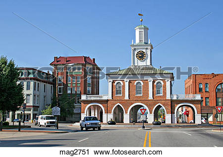 Stock Photography of Historic Old Market House in Fayetteville.