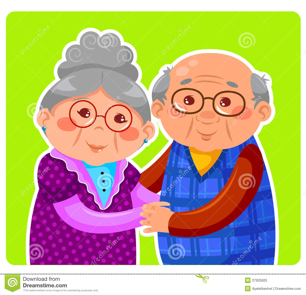 Old Couple Royalty Free Stock Photo.