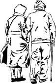 Stock Illustration of Elderly cartoon couple. k8588868.