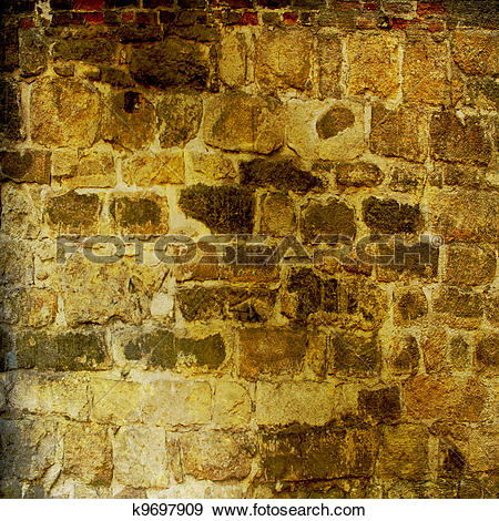 Stock Illustration of The background of the old masonry with.