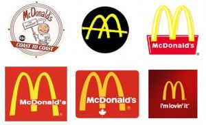 McDonalds logo evolution.