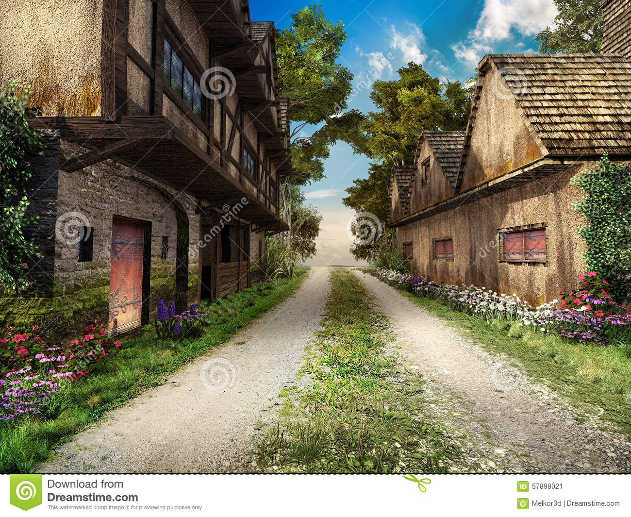 Old medieval town clipart clipground for Village town