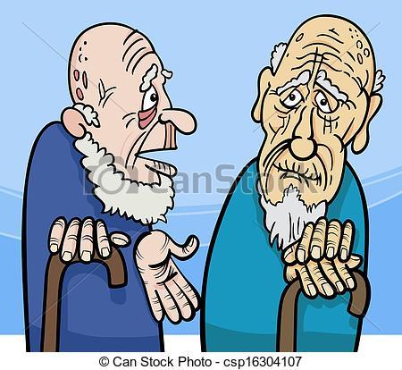 Old men clipart.