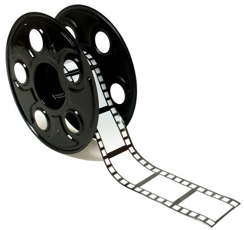 Old movie reel clipart.