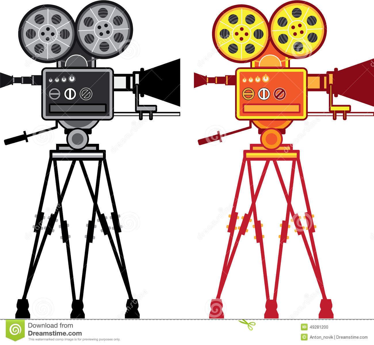 Old Movie Projector Clipart.