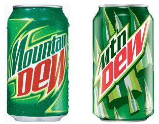 blog.julieandcompany: Uh oh Mountain Dew changes its logo.