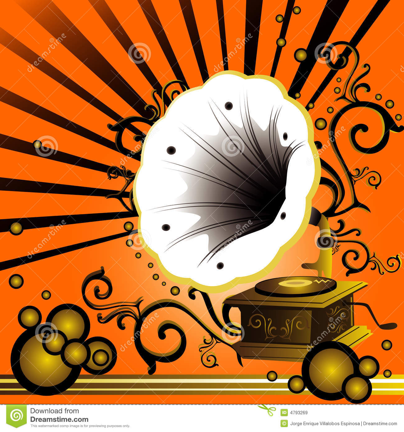 old music player clipart #1
