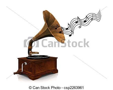 Old Music Player Clipart.