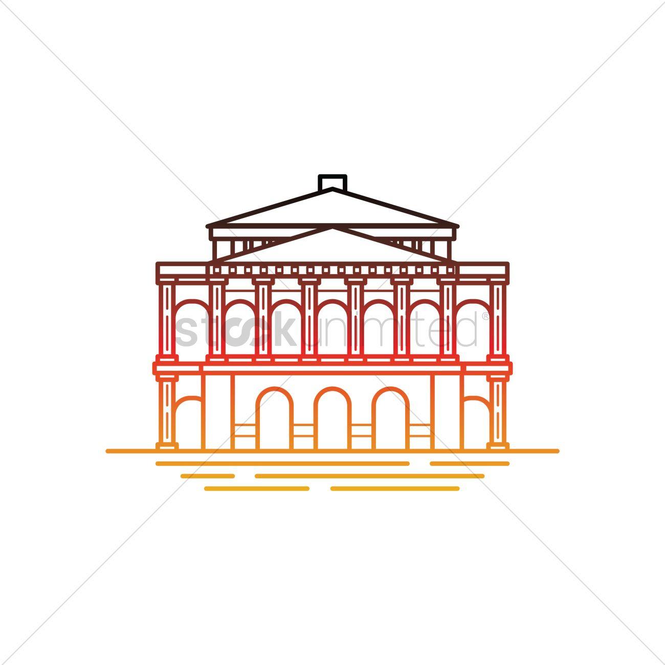 Frankfurt old opera house Vector Image.
