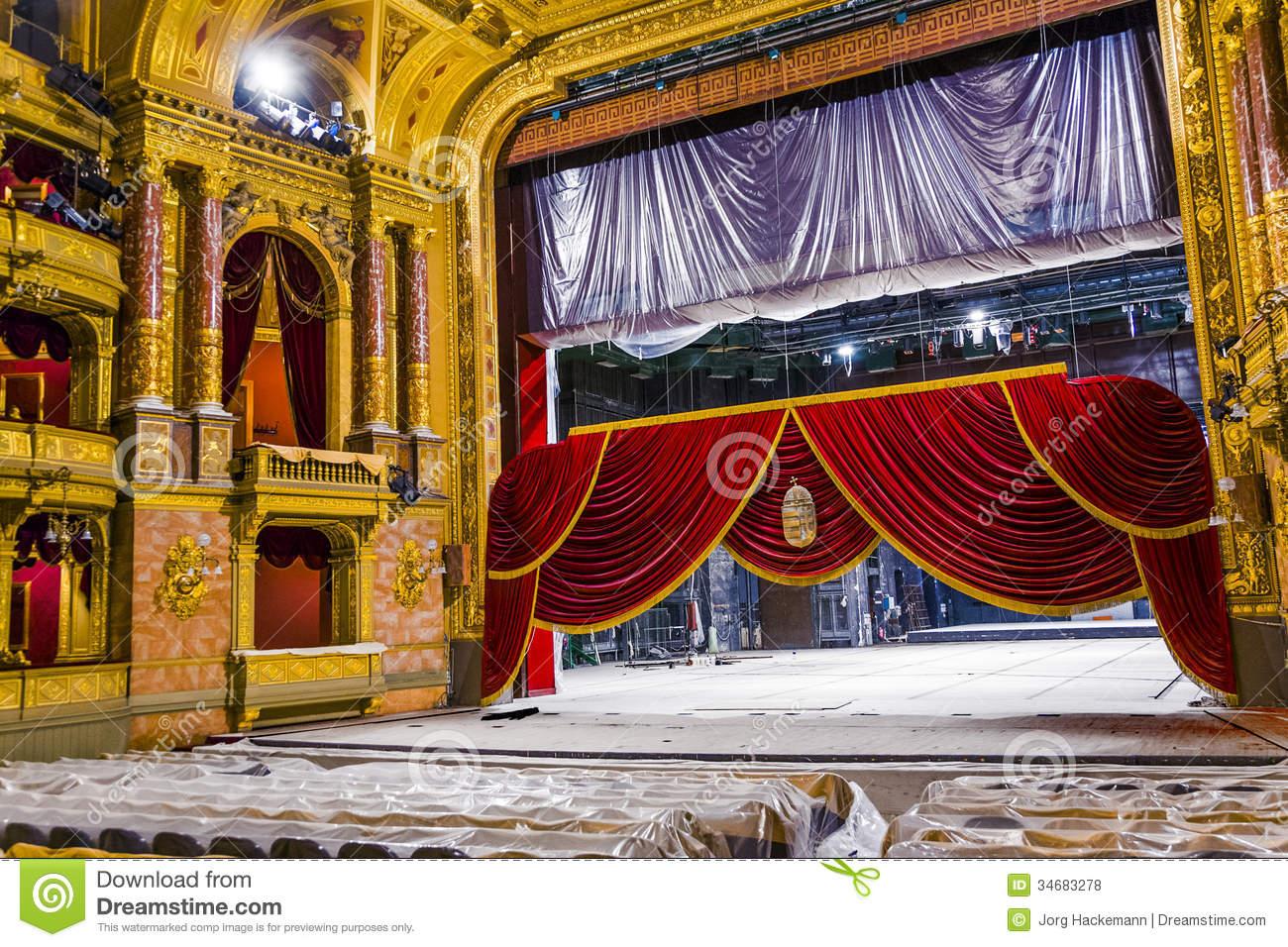 Old State Opera Opera House Editorial Stock Photo.