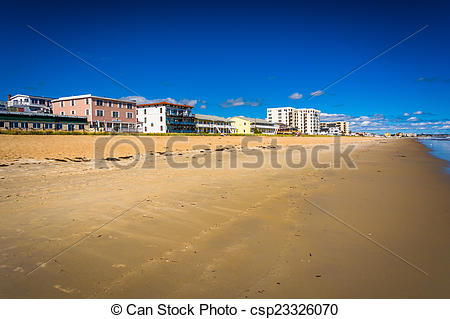 Picture of Buildings along the beach at Old Orchard Beach, Maine.