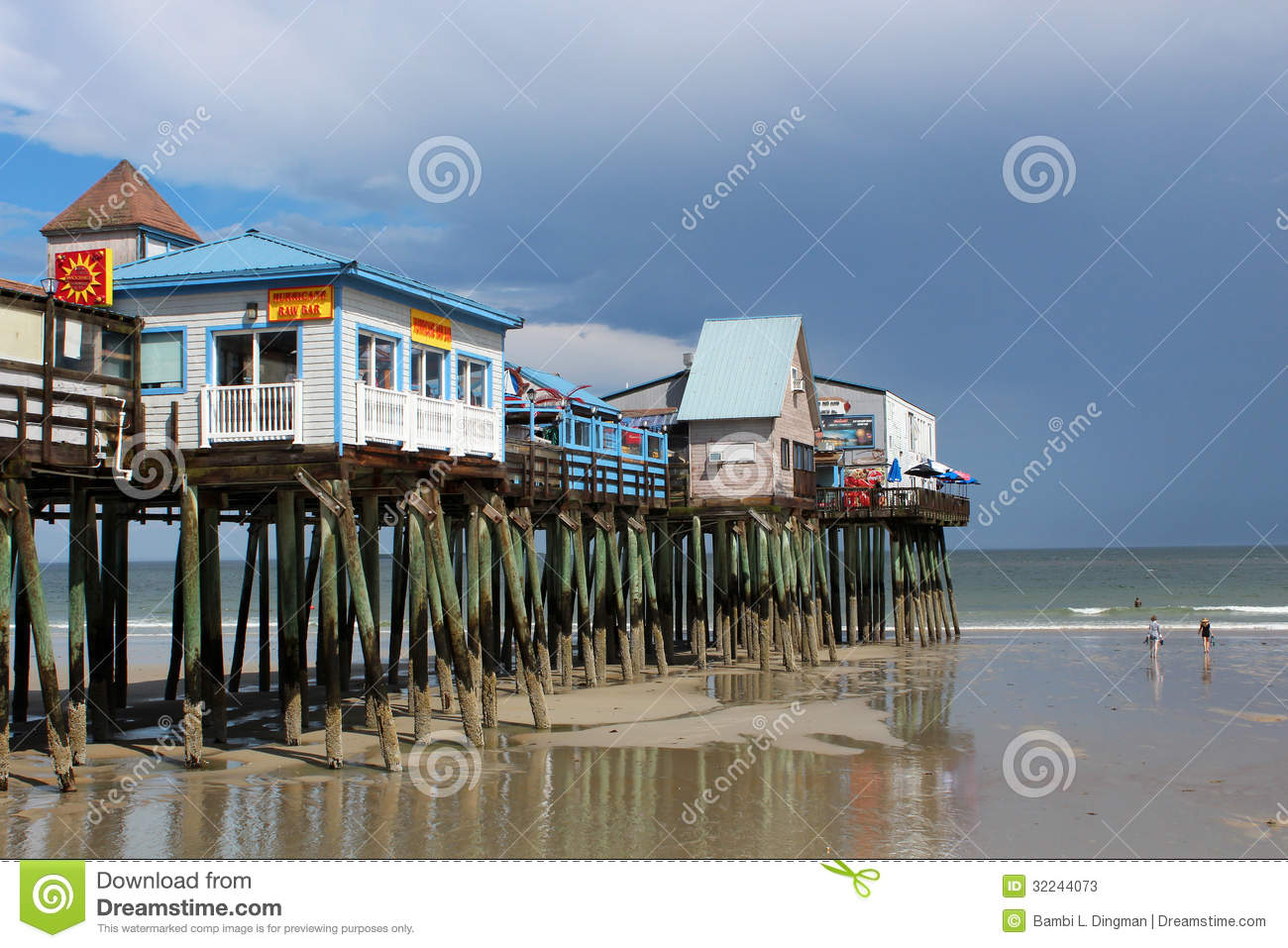 Old Orchard Beach , Maine Editorial Stock Image.