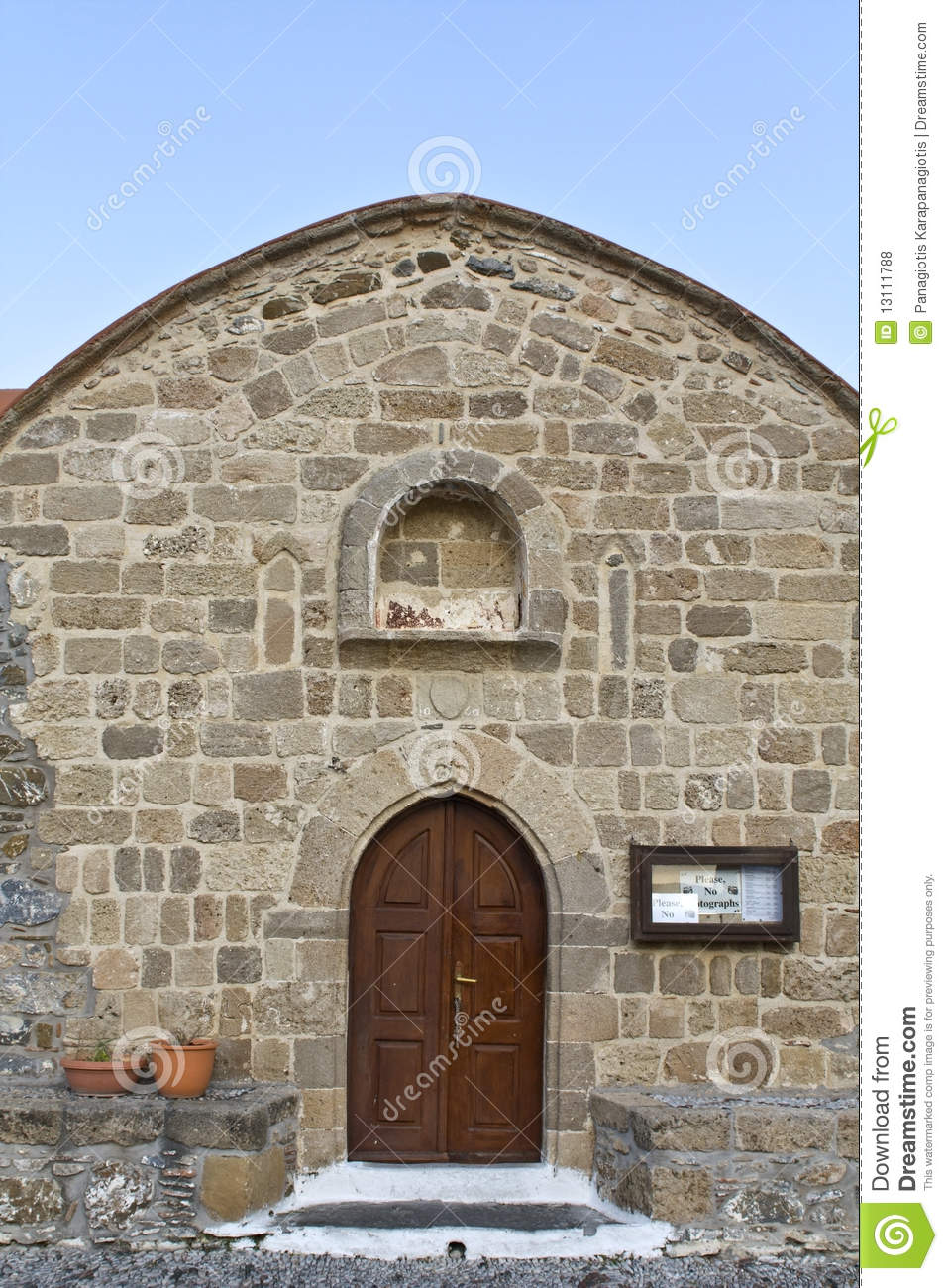 Old Orthodox Church At Rhodes, Greece Royalty Free Stock Photos.