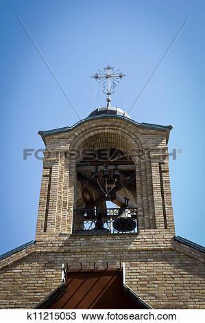 Stock Photo of Old orthodox church in Georgievka. Kazakhstan.