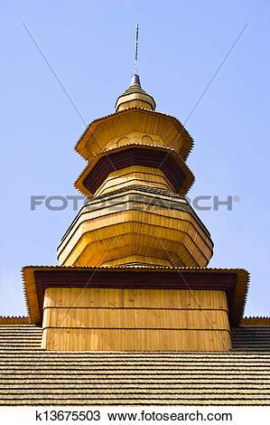 Stock Photo of An old Orthodox church in Wislok Wielki, Beskid.