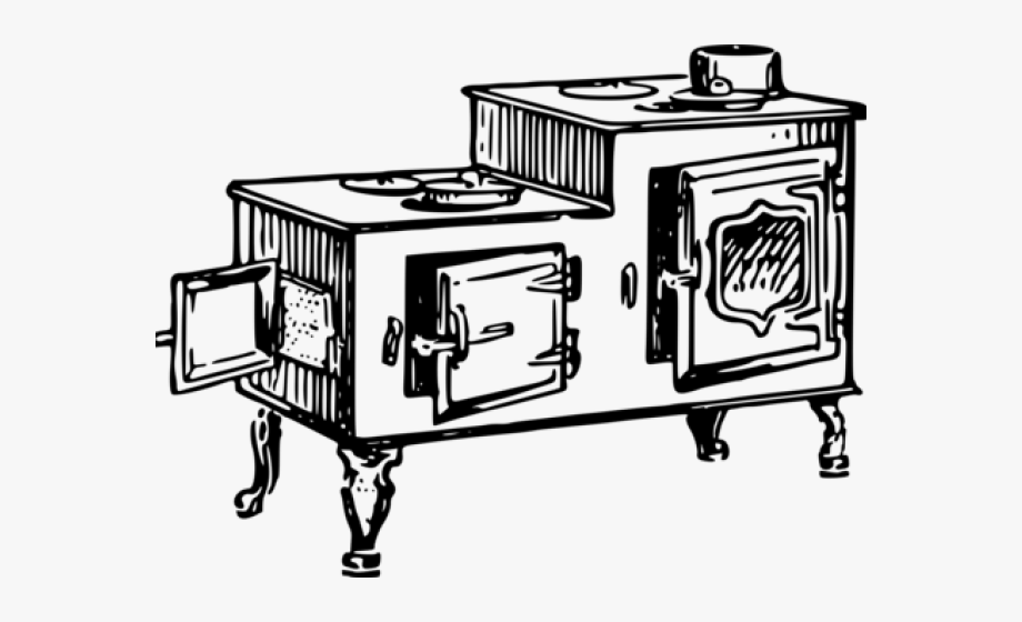 Oven Clipart Old Fashioned.