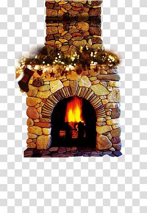 Fireplace Santa Claus Chimney , Old Stove transparent.