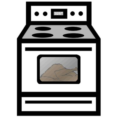 Cute oven clipart outline.