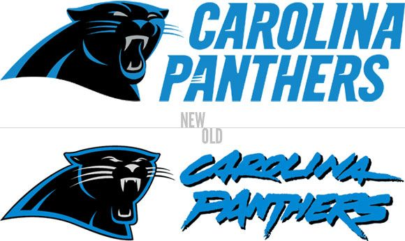 Old Panthers logo vs new one..