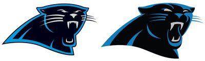 Carolina Panthers Logo Old VS New.