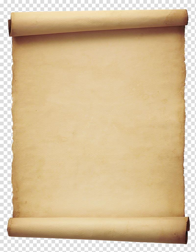 Brown scroll illustration, Scroll , Old Paper transparent.