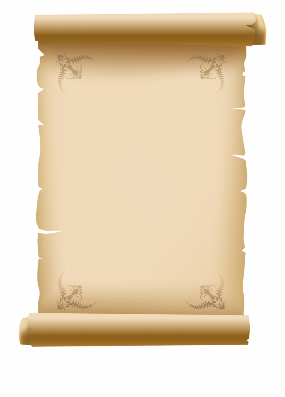 Scrolled Old Decorative Paper Png Clipart Picture.