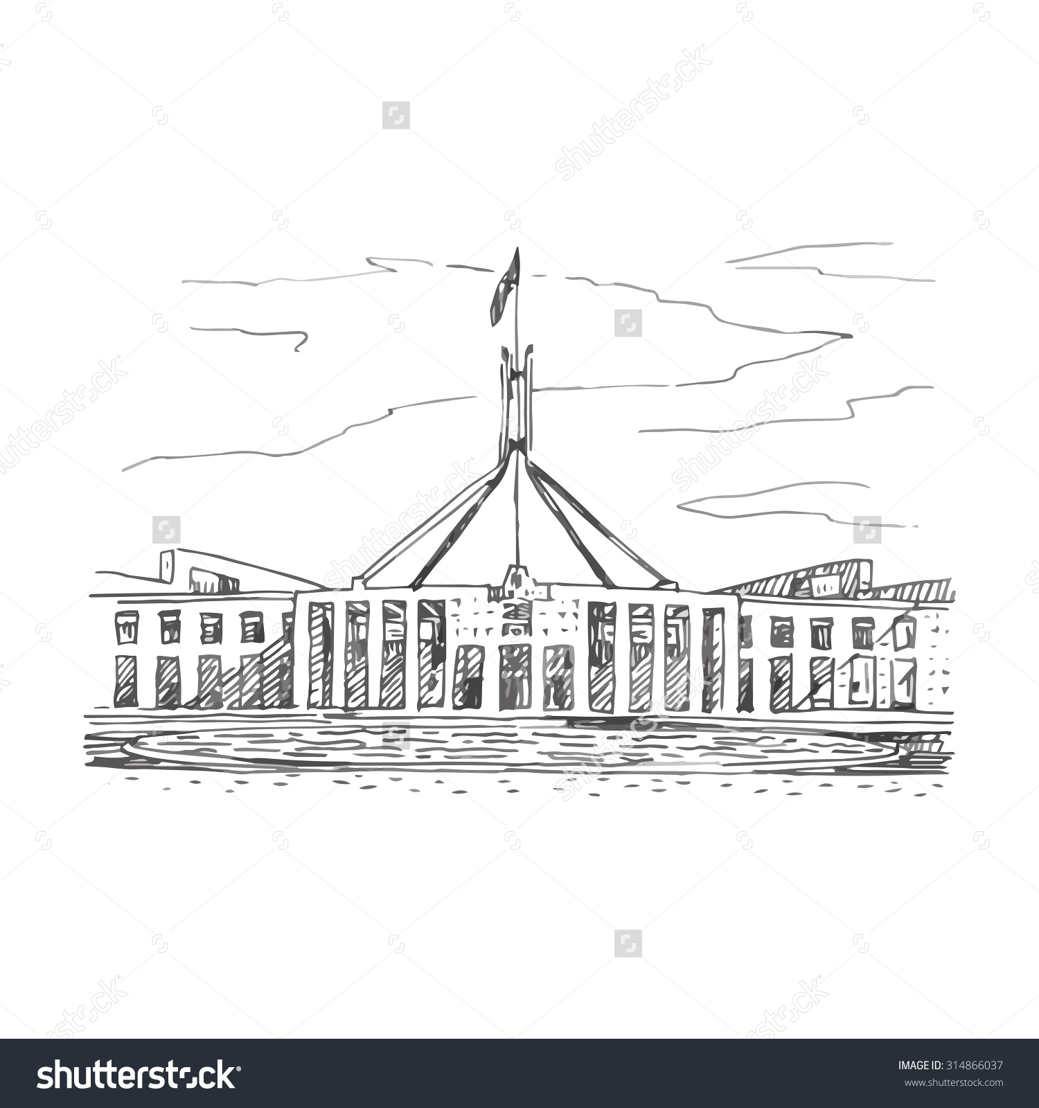 Old Parliament House Clipart Clipground