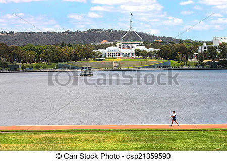 Stock Photographs of New & old parliament house Canberra.