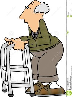Showing post & media for Cartoon old people walker.